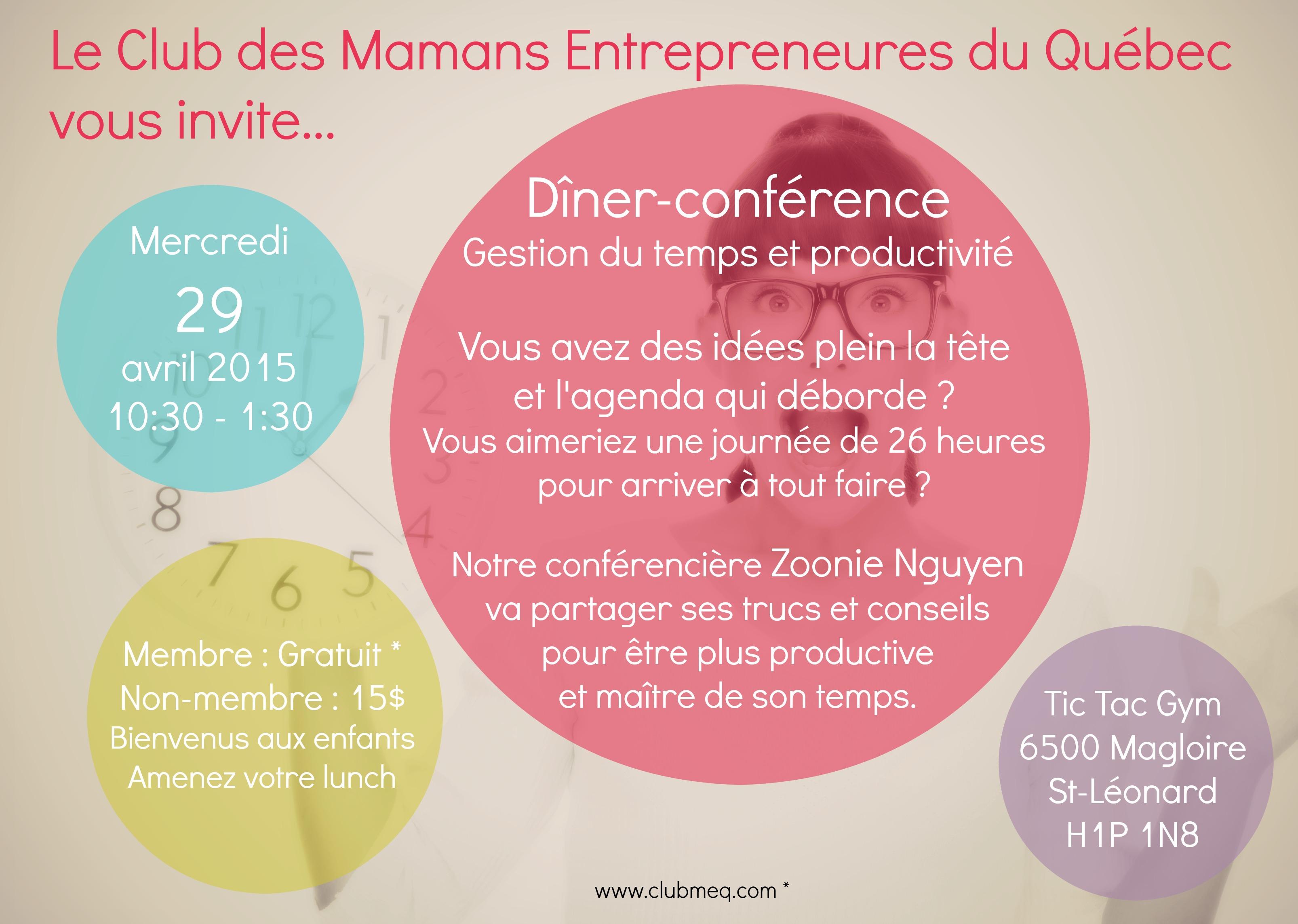 Conférence 29 avril gestion temps productivité