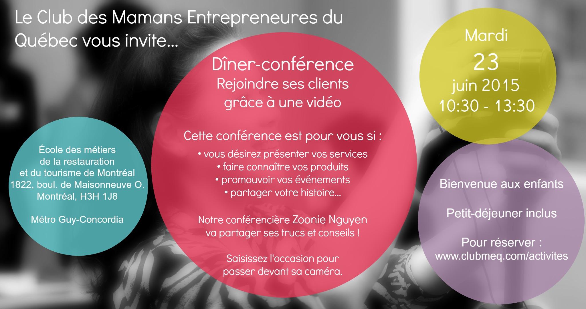 dîner-conférence 23 juin vidéo marketing